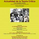 Actualidad de la Teoría Crítica