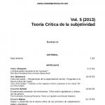 Publicación del número 5 de Constelaciones. Revista de Teoría Crítica