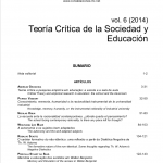 """Publicación del vol. 6 de Constelaciones: """"Teoría Crítica de la sociedad y educación"""""""