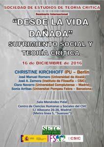 Desde la vida dañada: sufrimiento social y teoría crítica @ Centro de Ciencias Humanas y Sociales - CSIC | Madrid | Comunidad de Madrid | España